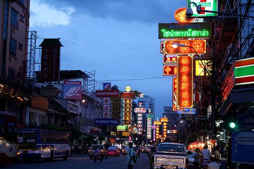 バンコクのフアランポーンの中華街